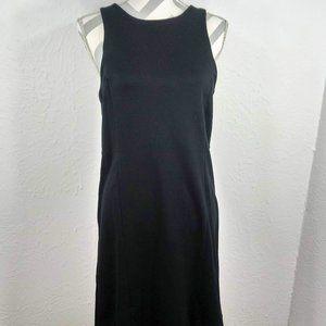 GAP Cotton Jersey Fit & Gentle Flare Black Dress 6